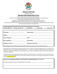 Membership Application Form GDPR Compliant